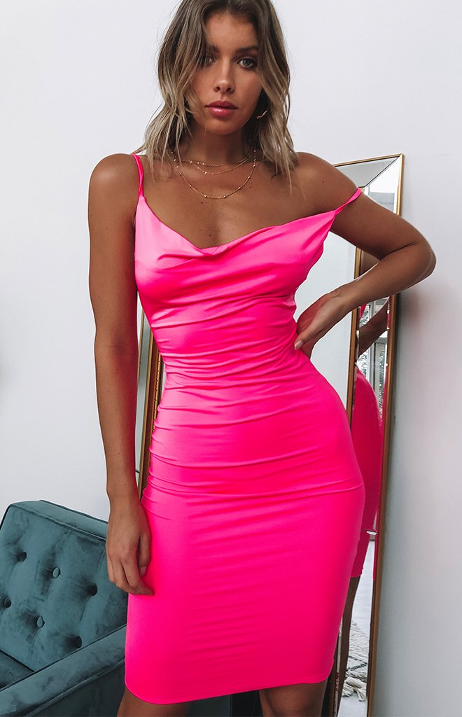 Shinah Dress Neon Pink