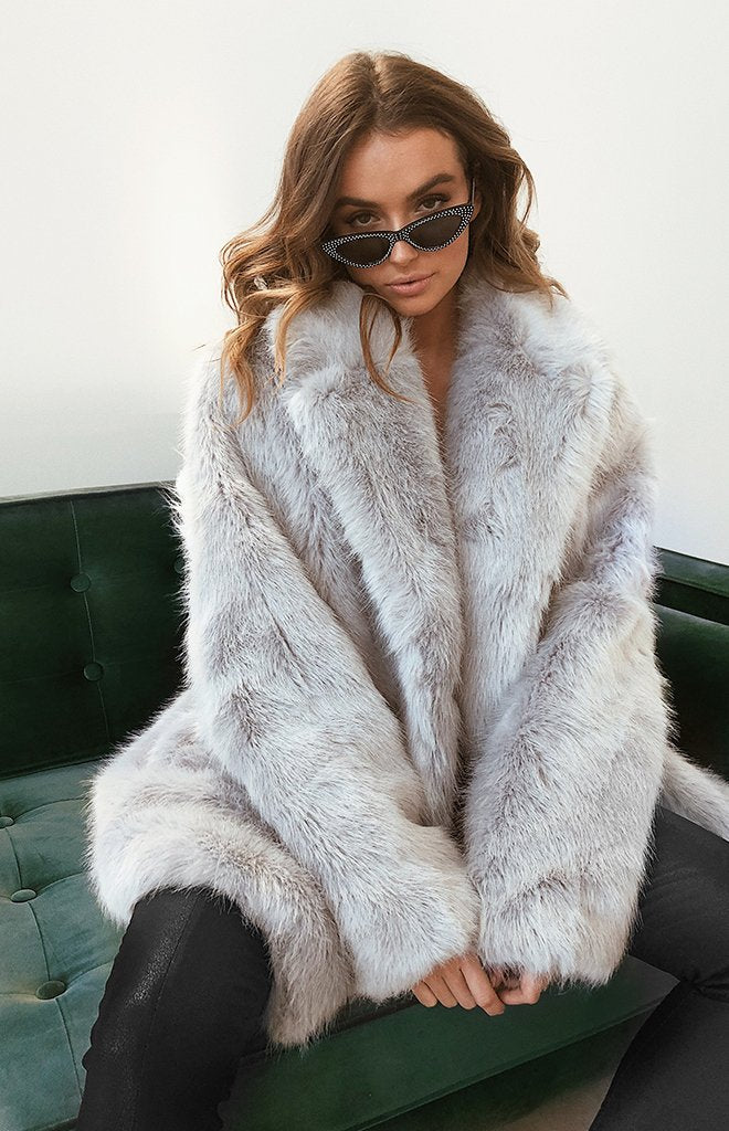 Kodiak Fur Coat Grey