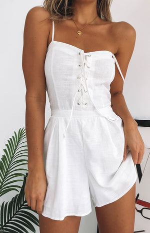 Sunset Glow Playsuit White