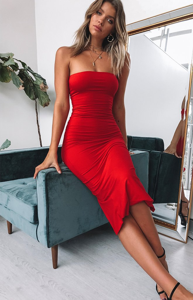 Emilie Dress Red