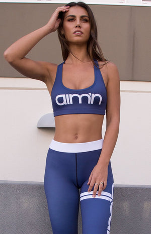 Aim'n Logo Bra Navy