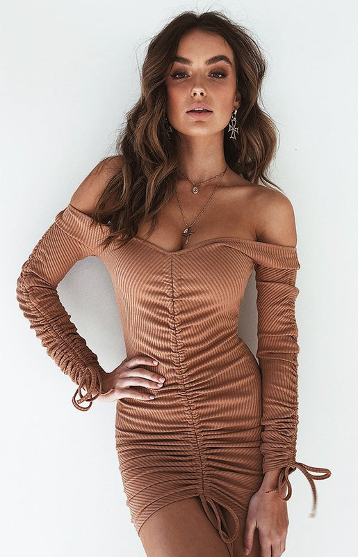 Indy Dress Caramel