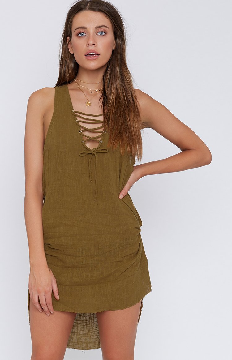 OneTeaspoon Brown Sugar Desert Rose Dress