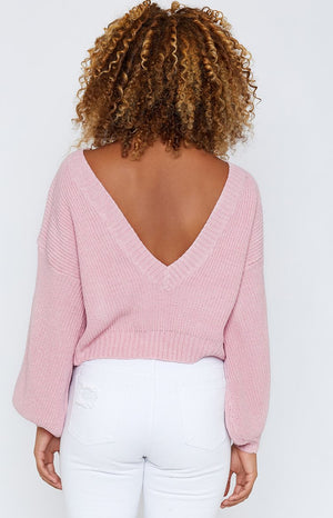 Carrington Knitted Jumper Pink