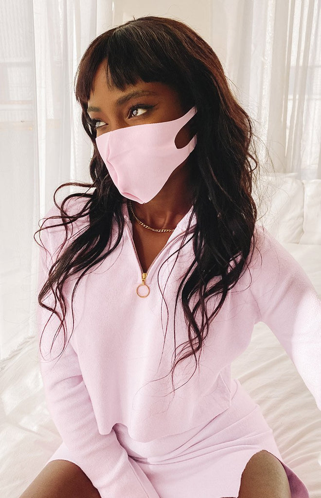 Adult Fabric Face Mask Pink 4