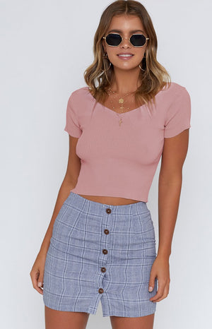 Larissa Knit Top Pink