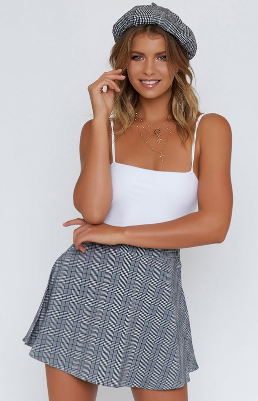 Keep Dreaming Skirt Grey Check