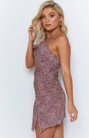 Rubella Dress Red Leopard