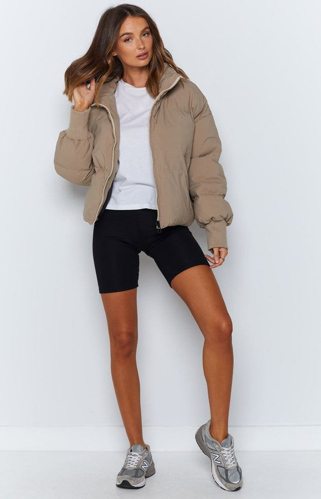 Remi Puffer Jacket Nude - Beginning Boutique US