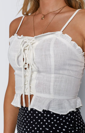 Simone Crop White