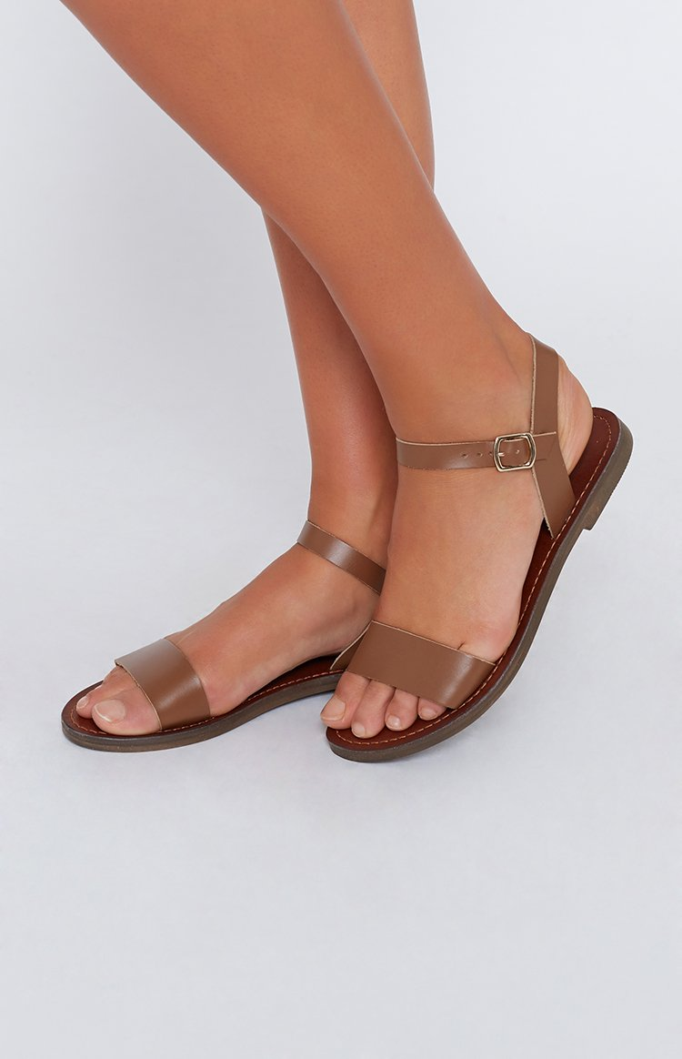 Just Because Mamuca Leather Flats Tan