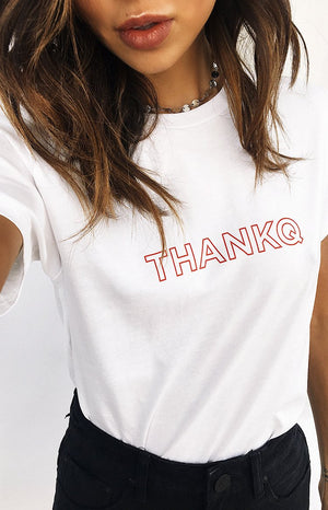 Michael x Shani THANKQ Tee White