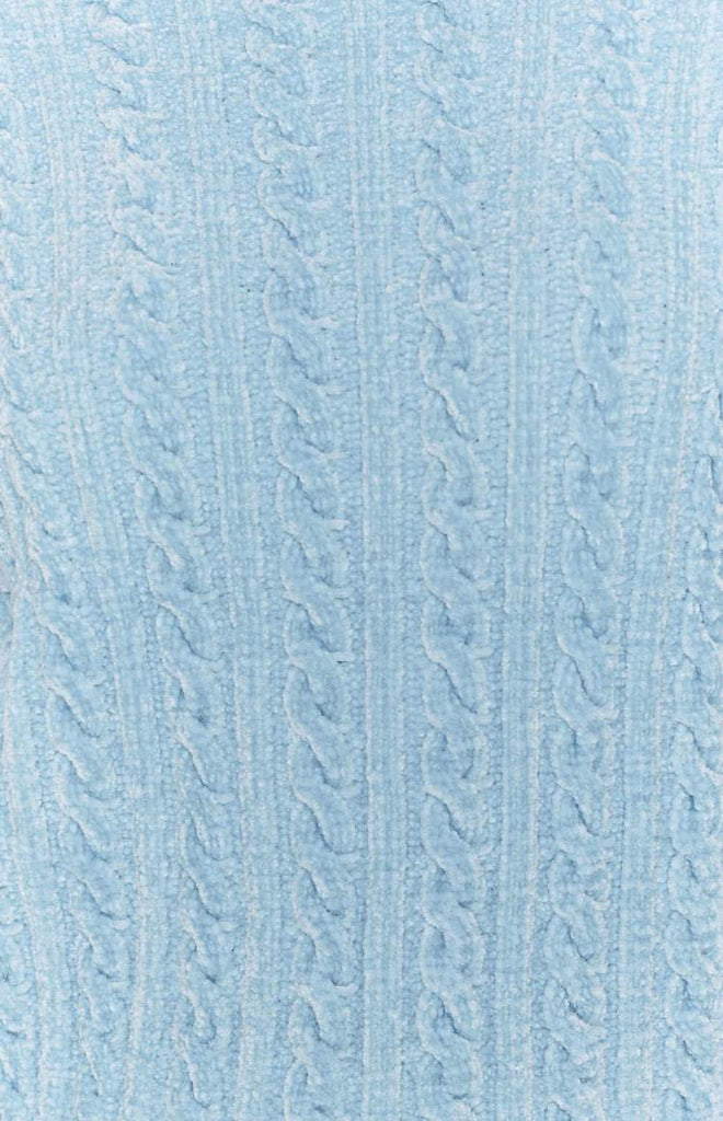 The Alps Cable Knit Jumper Blue 8