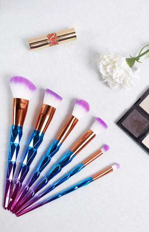 Unicorn Makeup 6 Piece Brush Set