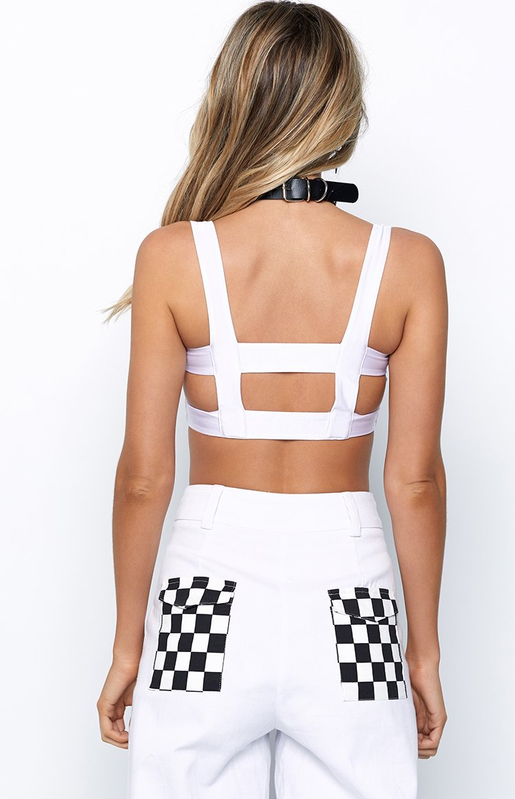 Caged In Crop White