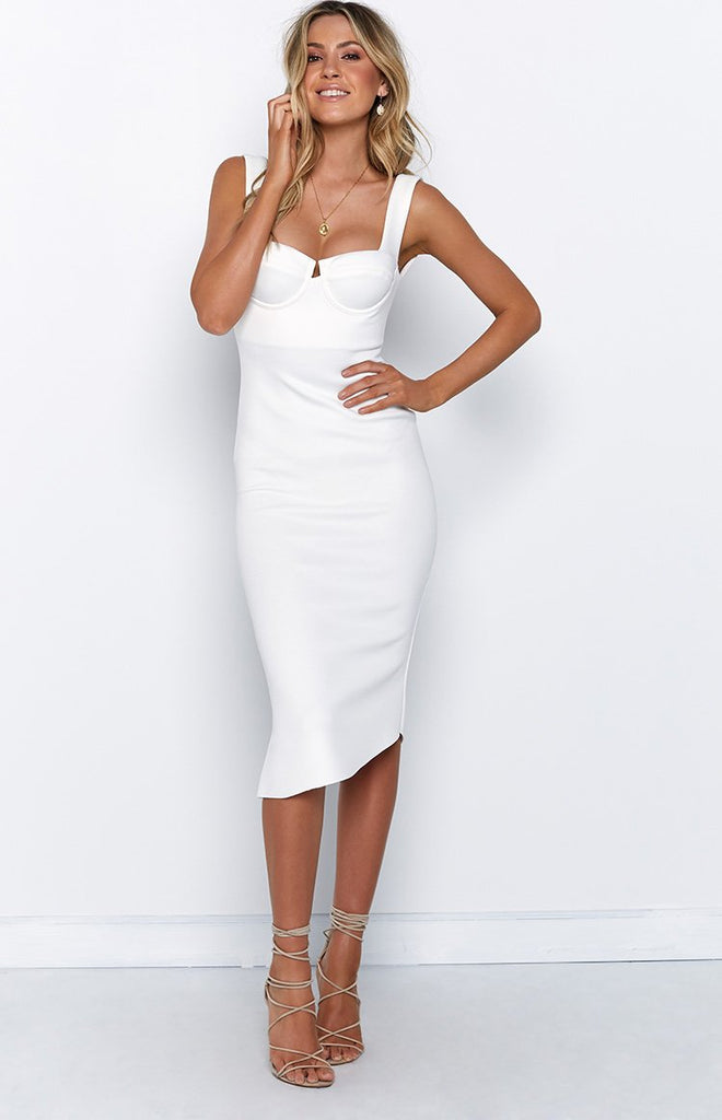 2127f7ad57 Chloe Dress White – Beginning Boutique