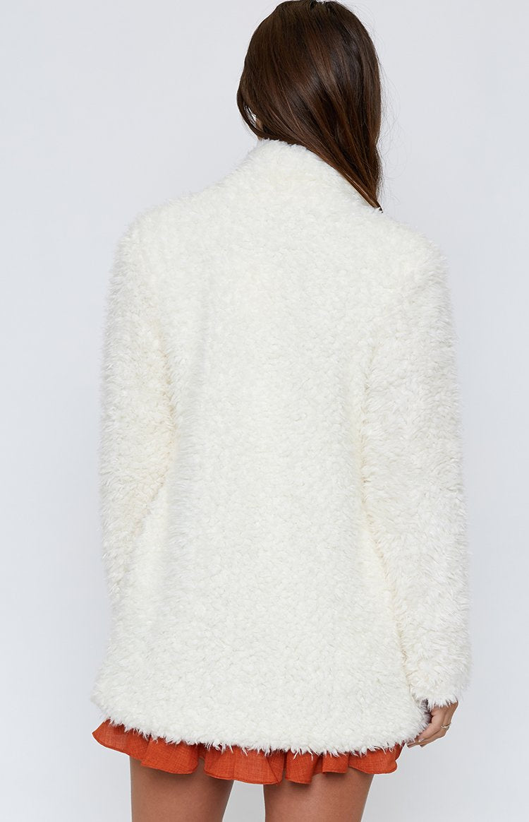 Jenner Jacket White Fur