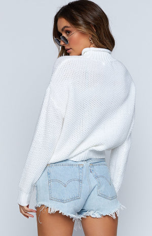 Vivian Jumper White