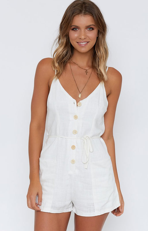 It's A Vibe Playsuit White