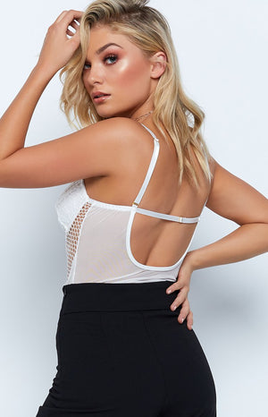 Koko Lace Bodysuit White