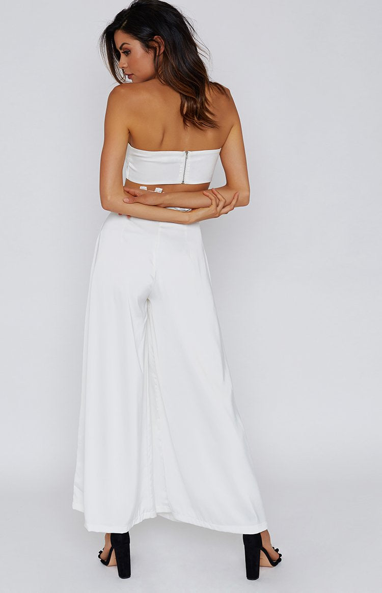 Bower Wide Leg Pants White