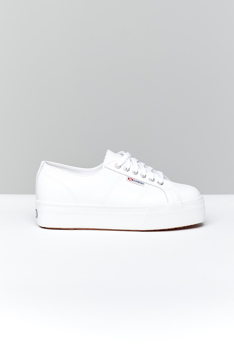 Superga 2790 FGLW Leather Sneaker White