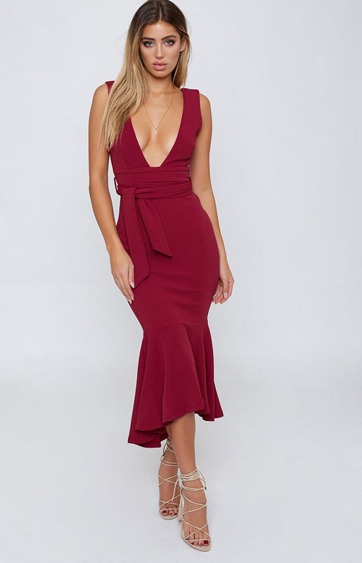 Stargazer Formal Dress Wine