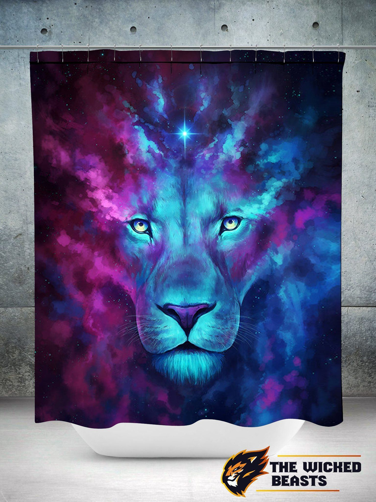 First Born Lion Shower Curtain