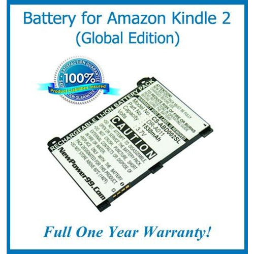 The Amazon Kindle 2 (Global Edition) Battery Replacement Kit with Tools, Video Instructions, Extended Life Battery and Full One Year Warranty - NewPower99 CANADA