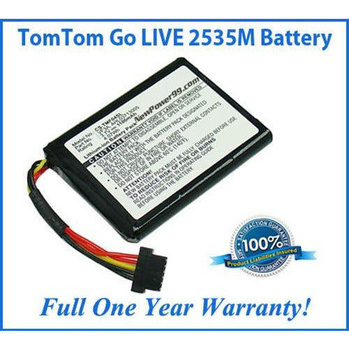 TomTom Go 2535M LIVE Battery Replacement Kit with Tools, Video Instructions, Extended Life Battery and Full One Year Warranty - NewPower99 CANADA