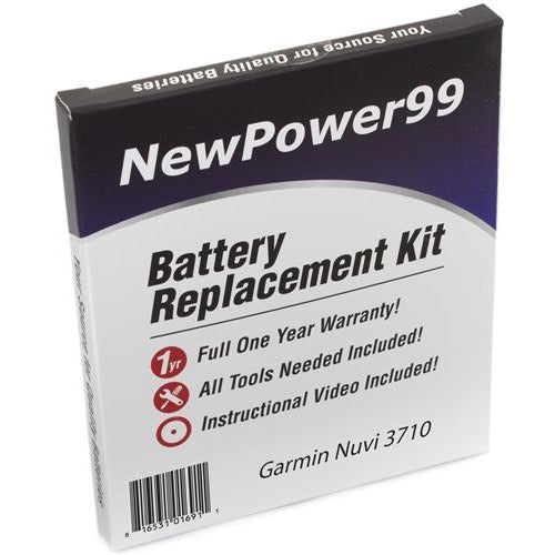 Garmin Nuvi 3710 Battery Replacement Kit with Tools, Video Instructions, Extended Life Battery and Full One Year Warranty - NewPower99 CANADA
