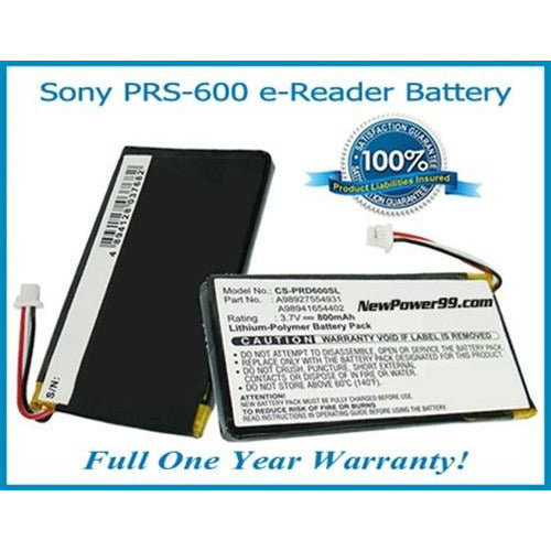 Sony Portable Reader PRS-600 (Sony PRS 600) Battery Replacement Kit with Tools, Video Instructions, Extended Life Battery and Full One Year Warranty - NewPower99 CANADA