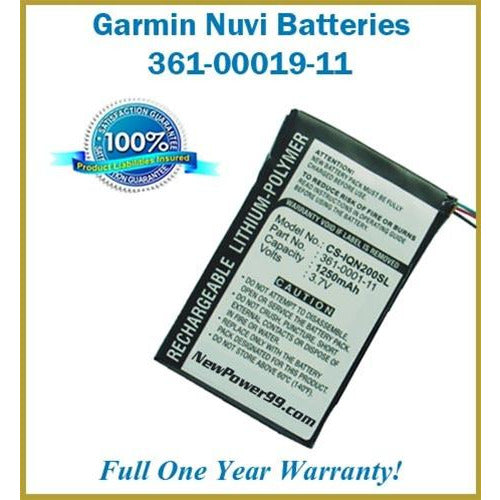 Extended Life Battery For Garmin Nuvi - 361-00019-11 - NewPower99 CANADA