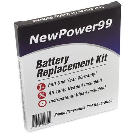 Amazon Kindle Paperwhite 2013 Battery Replacement Kit with Tools, Video Instructions, Extended Life Battery and Full One Year Warranty - NewPower99 CANADA