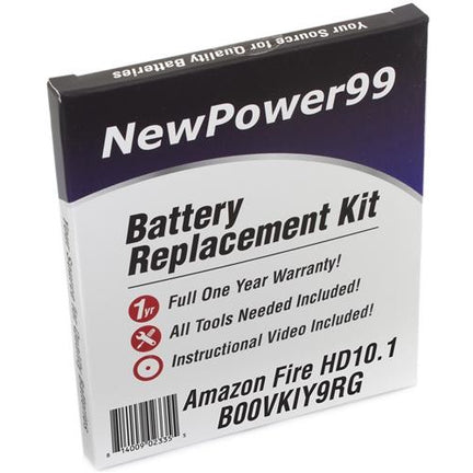Amazon Fire HD 10.1 B00VKIY9RG Battery Replacement Kit with Tools, Video Instructions, Extended Life Battery and Full One Year Warranty - NewPower99 CANADA