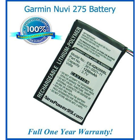 Garmin Nuvi 275 Battery Replacement Kit with Tools, Video Instructions, Extended Life Battery and Full One Year Warranty - NewPower99 CANADA
