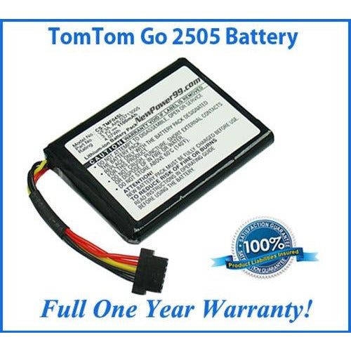 TomTom Go 2505 Battery Replacement Kit with Tools, Video Instructions, Extended Life Battery and Full One Year Warranty - NewPower99 CANADA