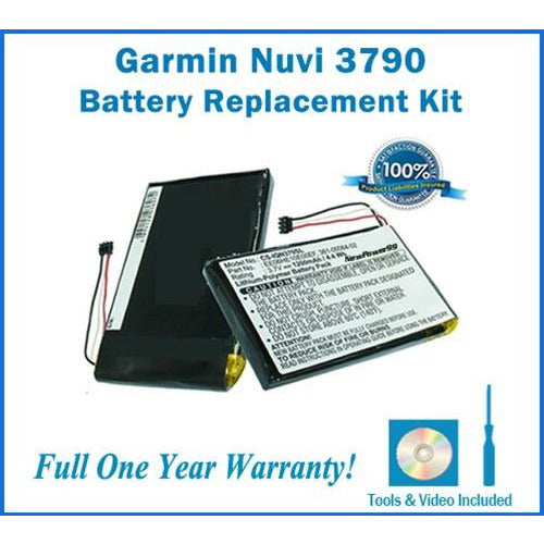Garmin Nuvi 3790 Battery Replacement Kit with Tools, Video Instructions, Extended Life Battery and Full One Year Warranty - NewPower99 CANADA