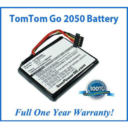 TomTom Go 2050 Battery Replacement Kit with Tools, Video Instructions, Extended Life Battery and Full One Year Warranty - NewPower99 CANADA
