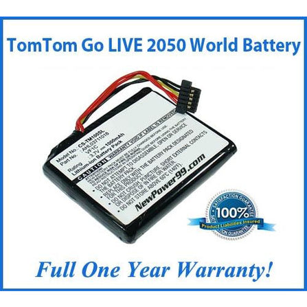 TomTom Go LIVE 2050 World Battery Replacement Kit with Tools, Video Instructions, Extended Life Battery and Full One Year Warranty - NewPower99 CANADA