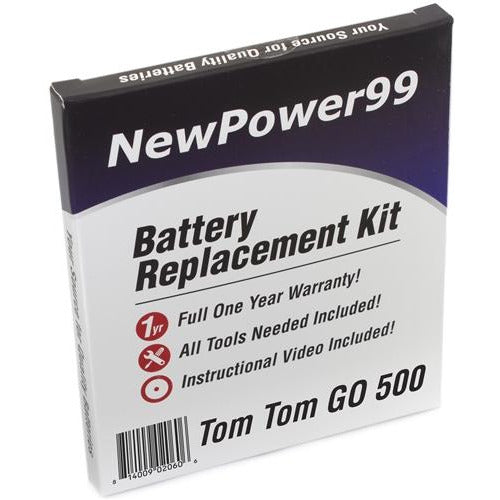 TomTom GO 500 Battery Replacement Kit with Tools, Video Instructions, Extended Life Battery and Full One Year Warranty - NewPower99 CANADA
