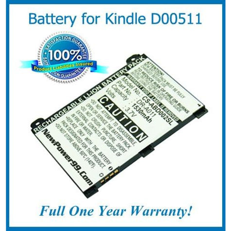 Amazon Kindle 2 - D00511 Battery Replacement Kit with Tools, Video Instructions, Extended Life Battery and Full One Year Warranty - NewPower99 CANADA