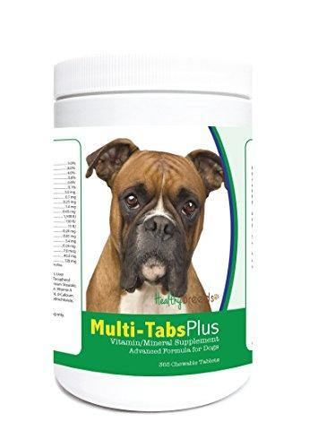 Healthy Breeds Dog Multivitamin And Mineral Supplement Chewable Tabs For Boxer - Over 80 Breeds – 180, 365 Chews – Formula For Young Or Senior Pets – Easier Than Liquid, Powder - K9Boxer
