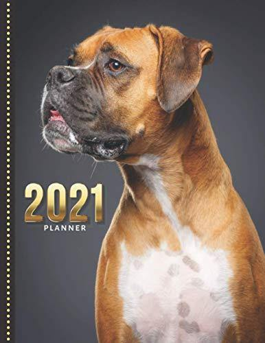 2021 Planner: Boxer Dog Photo / Daily Weekly Monthly / Dated 8.5x11 Life Organizer Notebook / 12 Month Calendar - Jan to Dec / Full Size Book - ... Christmas or New Years Gift for Dog Lover