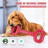 Feeko Dog Toys for Aggressive Chewers Large Breed 15 Inch Interactive Bone, Durable Indestructible Dog Toys with Convex Design, Natural Rubber Tug-of-war Toy for Extral Large Dogs (Red) - K9Boxer