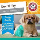 Arm & Hammer Super Treadz Gator & Gorilla Chew Toy for Dogs | Best Dental Dog Chew Toy | Reduces Plaque & Tartar Buildup Without Brushing - K9Boxer
