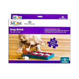 Nina Ottosson by Outward Hound Dog Brick Interactive Treat Puzzle Dog Toy, Intermediate - K9Boxer