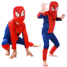 Load image into Gallery viewer, Red spiderman costume black spiderman