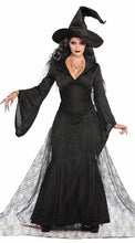 Load image into Gallery viewer, Renaissance Spider Witch Costume Black