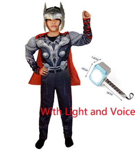 Load image into Gallery viewer, SuperHero Kids Muscle Thor Cosplay Costumes